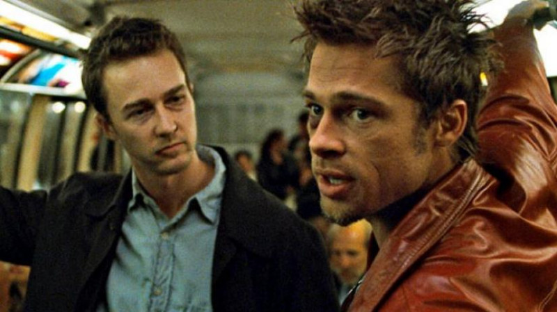 Edward Norton, Brad Pitt ve filmu Klub rváčů / Fight Club