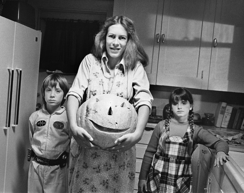 Jamie Lee Curtis, Kyle Richards, Brian Andrews ve filmu Halloween / Halloween