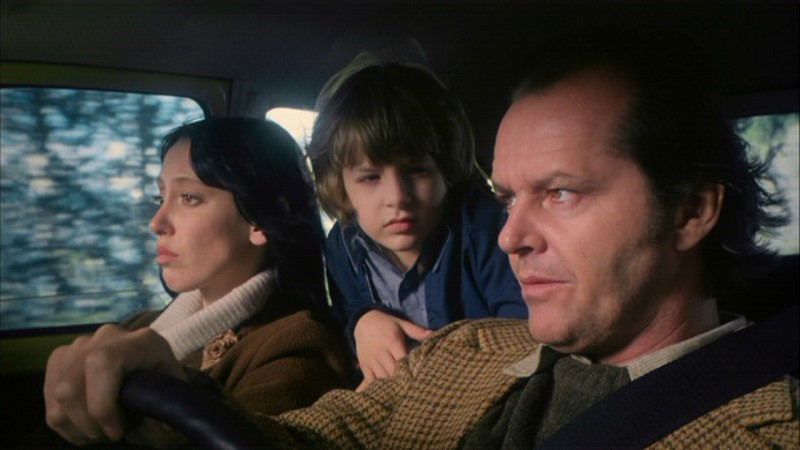 Jack Nicholson, Shelley Duvall, Danny Lloyd ve filmu Osvícení / The Shining