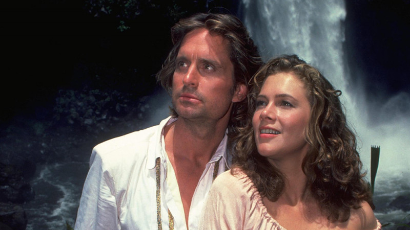 Michael Douglas, Kathleen Turner ve filmu Honba za diamantem / Romancing the Stone