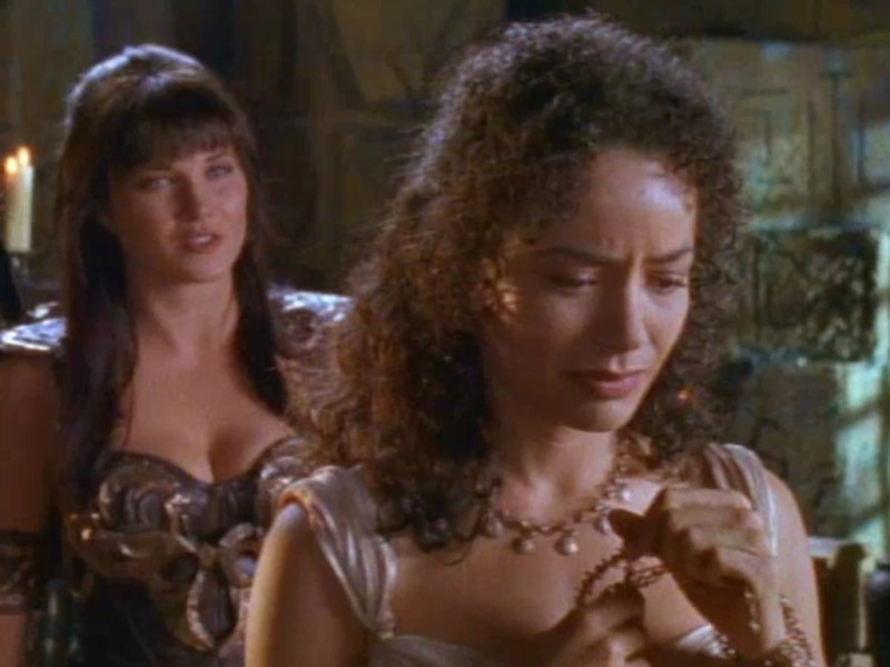 Galyn Görg, Lucy Lawless ve filmu Xena / Xena: Warrior Princess